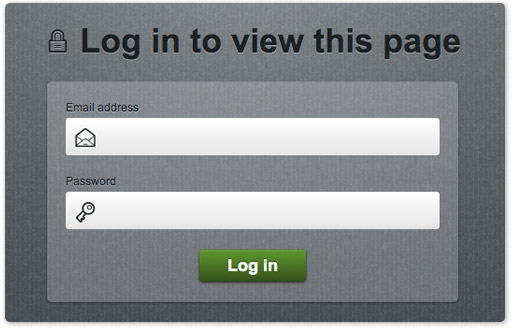 Log in to view a password protected page