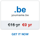 Free .be domain name