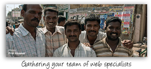 Gathering your team of web specialists